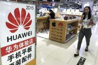 Raksasa teknologi China, Huawei. (Foto: Stephen Shaver / UPI)