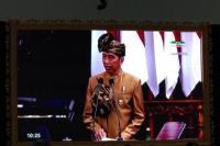 Presiden Republik Indonesia, Jokowi dalam sambutannya saat sidang Tahunan MPR yang berlangsung di gedung Nusantara, Jumat (16/08) Jakarta.