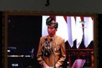 Presiden Joko Widodo saat Pidato Kenegaraan dalam Sidang Tahunan MPR yang digelar di Gedung Nusantara, Komplek Gedung MPR/DPR/DPD RI, Jakarta, 16 Agutus 2019.