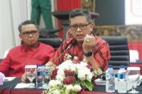 Sekjen PDIP Hasto Kristiyanto dan Gubernur Nurdin Abdullah