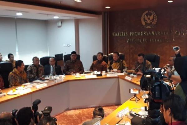 Ketua KPK, Firli Bahuri saat bersilaturahmi ke MPR RI
