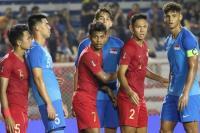 Timnas Singapura menghadapi Indonesia di SEA Games 2019 (Foto: Liputan 6)