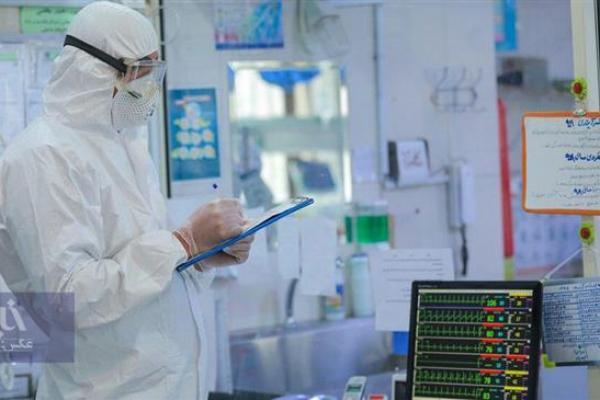 Seorang medis di alat pelindung terlihat bekerja di Rumah Sakit Masih Daneshvari, di mana pasien virus corona sedang dirawat, di Teheran, Iran. (Foto oleh khabaronline.ir)