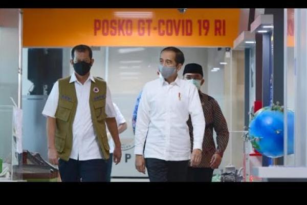 Kunjungan Presiden Jokowi ke Gugus Tugas Percepatan Penanggulangan Covid-19, Jakarta, Rabu (10/6/2020).