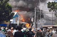Kebakaran di Jalan Payakumbuh Hanguskan 47 Rumah dan Ruko