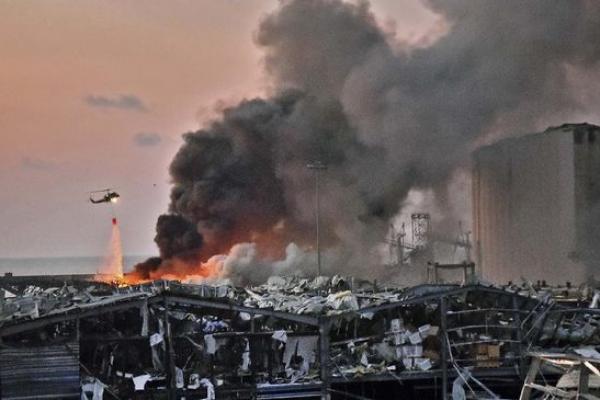 Ledakan dashyat di Beirut, Libanon
