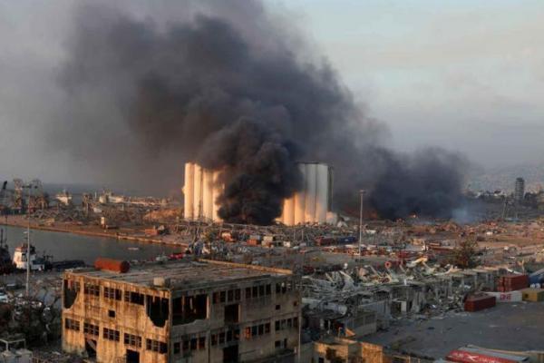 Dampak ledakan di Beirut, Lebanon (Foto: Reuters)