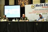 Ketua  MPR Bambang Soesatyo dalam acara Media Expert Meeting Press Room MPR RI, di Bandung, Jumat (7/8/20).