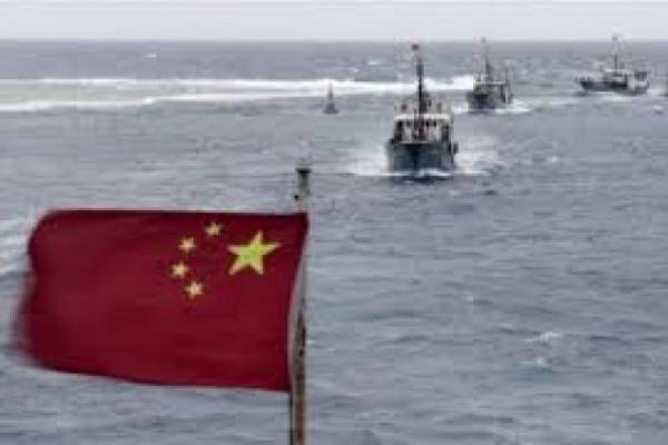 Ilustrasi kapal nelayan Tiongkok di Laut China Selatan. (Foto: The Star)