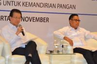 Wakil Ketua Umum Kadin Indonesia Bidang Agribisnis, Pangan, dan Kehutanan Franky Widjaja (kiri)