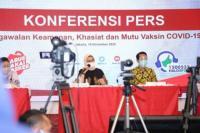 Kepala Badan Pengawas Obat dan Makanan Penny K Lukito dalam jumpa persnya di Jakarta, Kamis (19/11/2020)