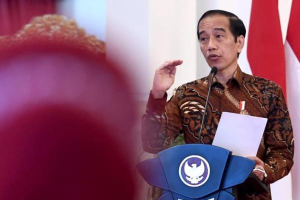 Presiden Joko Widodo pada Pembukaan Rapat Koordinasi Nasional Kemitraan Program Pembangunan Keluarga, Kependudukan dan Keluarga Berencana (Bangga Kencana) Tahun 2021 di Istana Presiden, Jakarta, Kamis 28 Januari 2020. (Foto: Humas BKKBN)