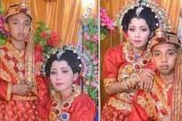 Pernikahan anak di Jeneponto, Sulsel. Mempelai pria masih berusia 13 tahun dan mempelai wanita berusia 14 tahun (foto Liputan6.com)