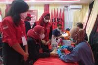 Pora DPD dan DPC PDI Perjuangan Jaksel Gelar Donor Darah Bekerjasama dengan PMI