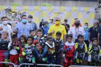 Bambang Soesatyo membuka putaran pertama BOS Junior Motocross Championship 2021, di sirkuit Hidden Valley Track Baja Otomotif Superblok, Pulogadung, Jakarta, Sabtu (10/4/21).