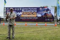 Ketua MPR RI sekaligus Ketua Umum Ikatan Motor Indonesia (IMI) Bambang Soesatyo membuka putaran pertama Kejuaraan Nasional Sprint Rally Lintas Fortuna Nusantara Tropical 2021, di Sirkuit Badak, Tanjung Lesung, Banten.