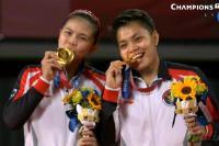Pasangan ganda putri Greysia Polii dan Apriyani Rahayu. Foto: championstv