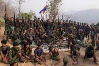 Ilustrasi. Tentara rezim militer Myanmar beserta persenjataannya yang berhasil ditangkap KNLA. (Twitter/@KnIC_Karenni/ voi.id)